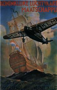 KLM, legend becomes fact - Vintage Dutch poster 1929